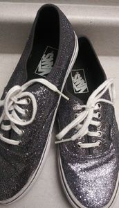Vans glitter tennis shoe